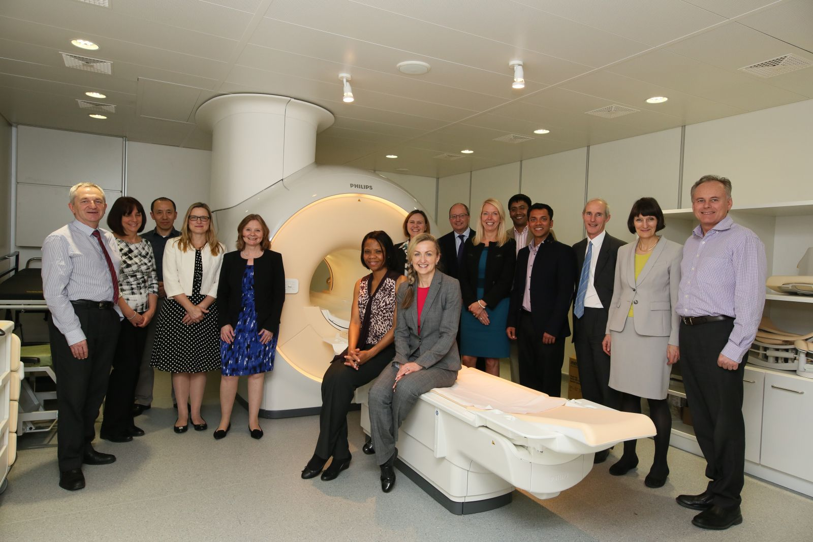 launch of the new MRI scanner at Parkside Hospital